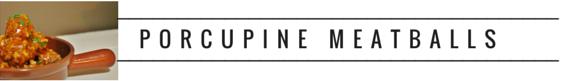 RECIPE, initforlove - porcupine meatballs