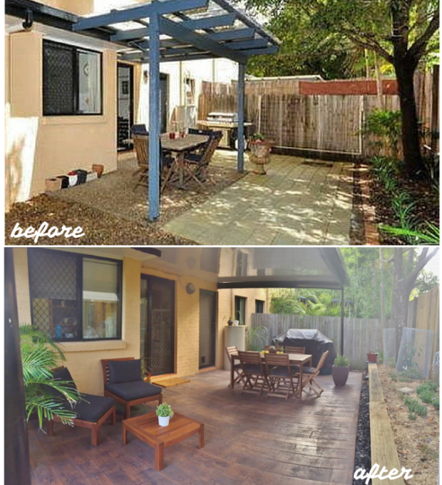 Before & After - home outdoor reno