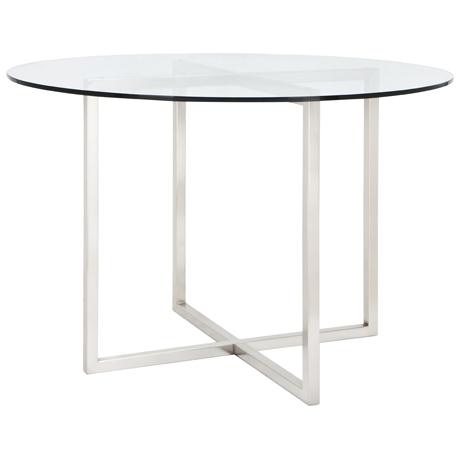 CBD-Dining-Table-110cm-Diameter-Brushed-Nickel-1