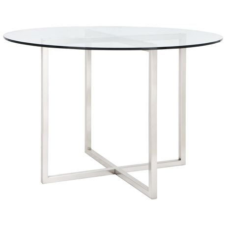 CBD-Dining-Table-110cm-Diameter-Brushed-Nickel-1