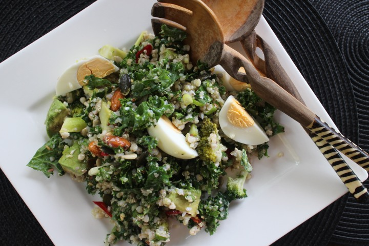kale and buckwheat salad -